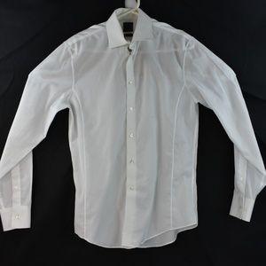 Calvin Klein 15.5 34/35 Slim Fit Dress Shirt White